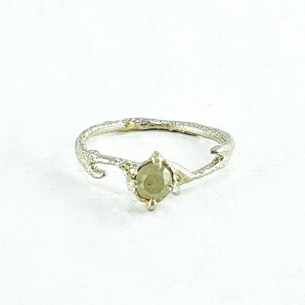Briar solitaire ring - white diamond