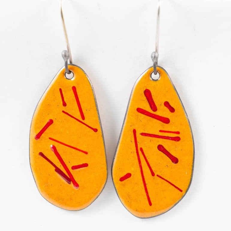 Random earrings - orange