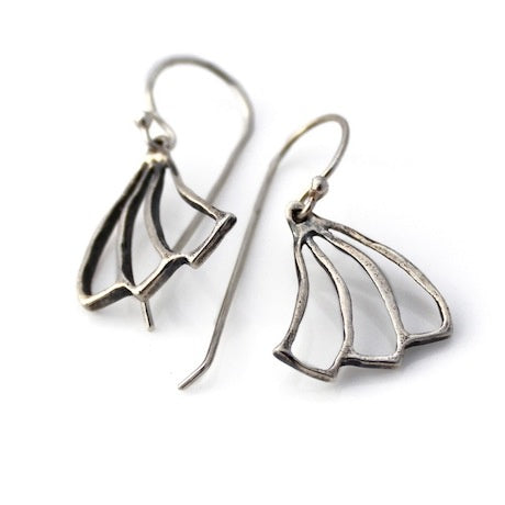 Fan earrings - silver
