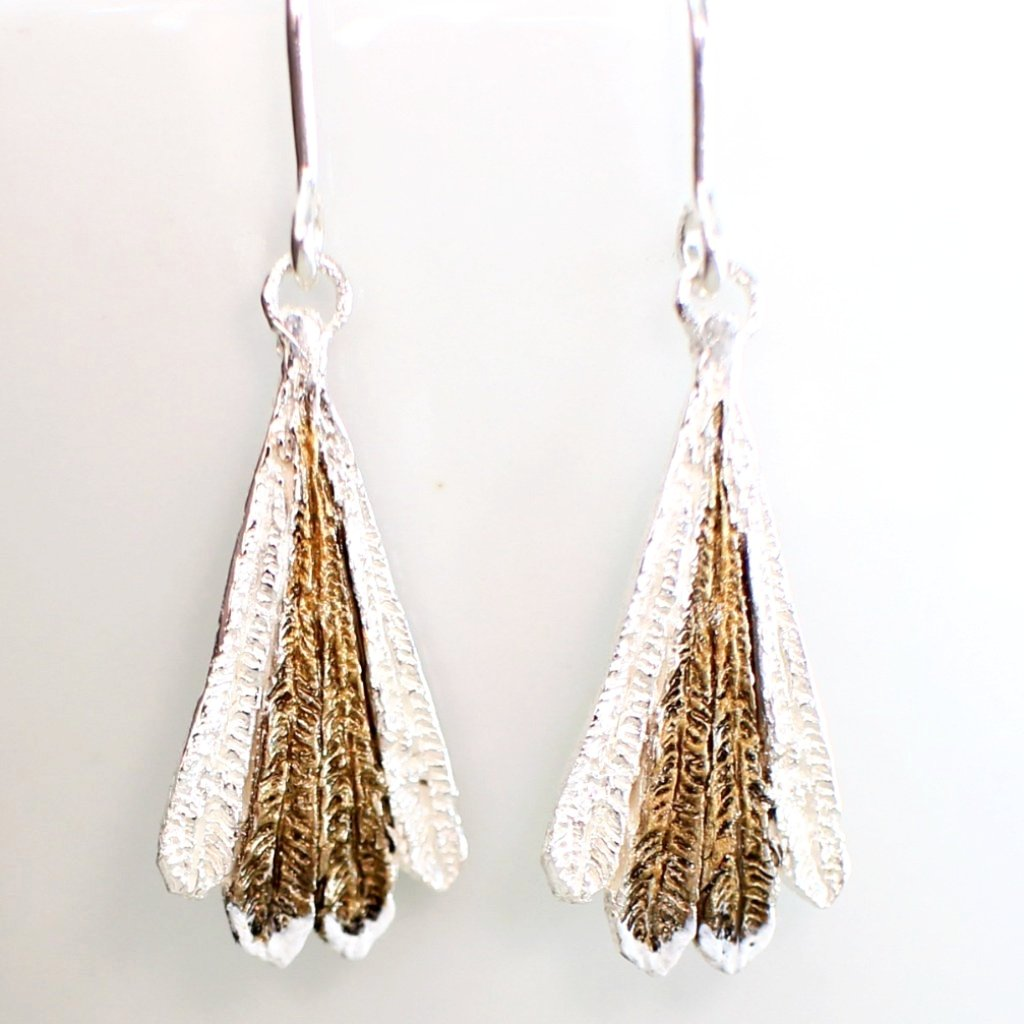 Fantail Feather Earrings