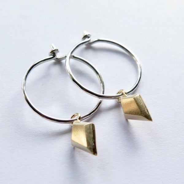 Gold plate diamond earrings