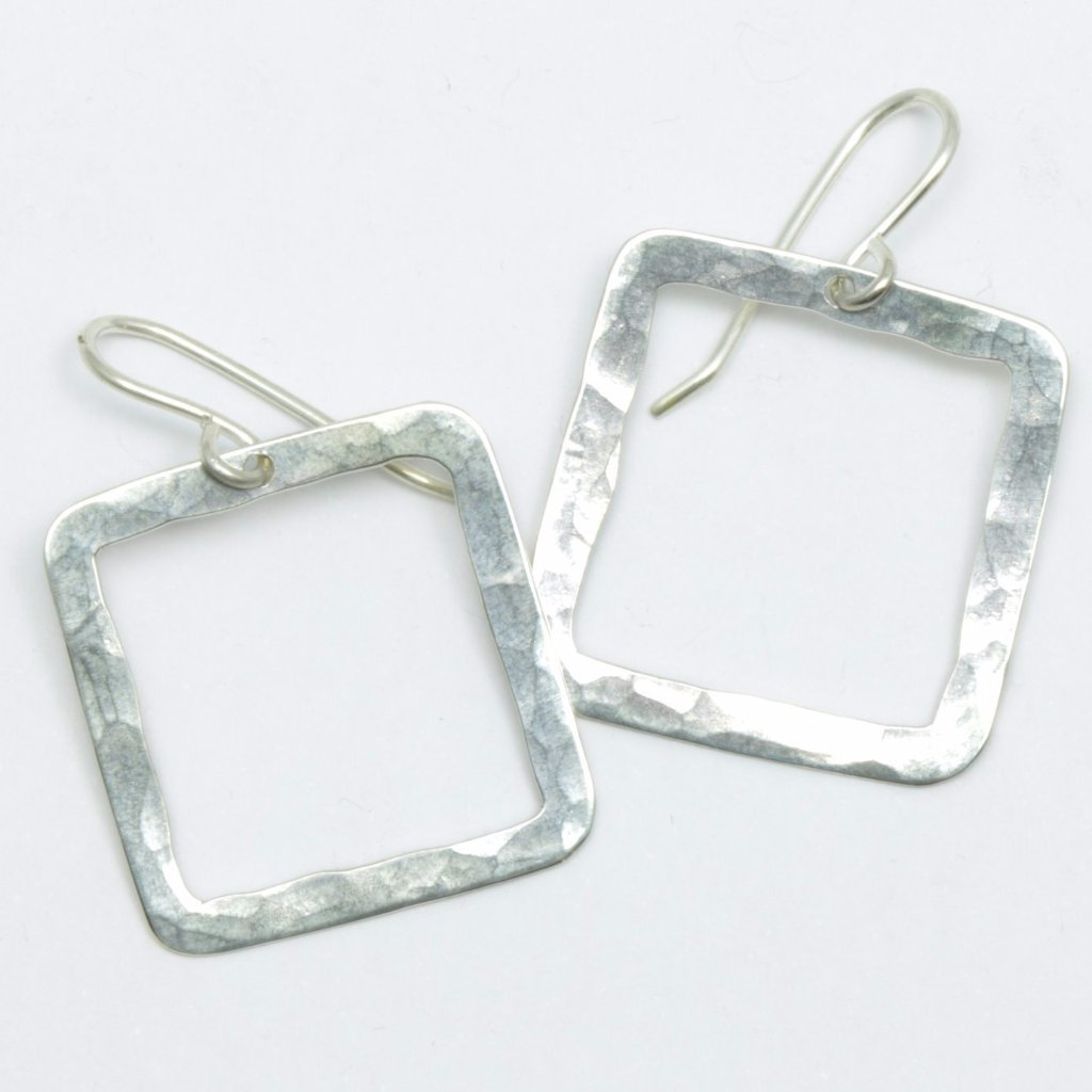 Square Pirori (hoop) earrings