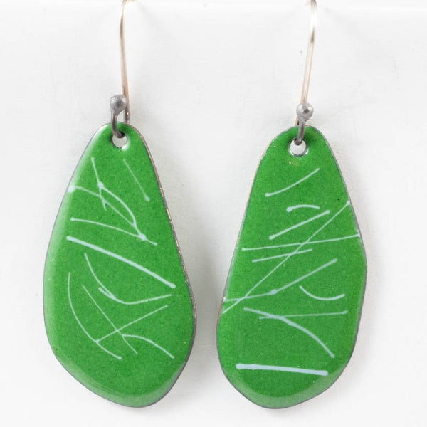 Random earrings - green