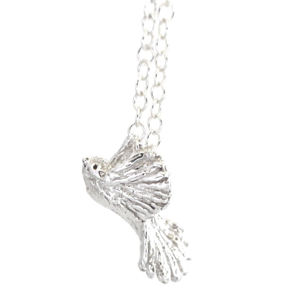 Piwakawaka bird necklace