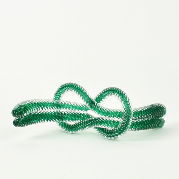 Glass knot - jade green