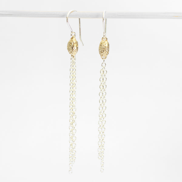 Golden Seed Tassel Earrings