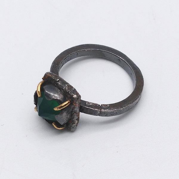 Future Artefact green onyx ring