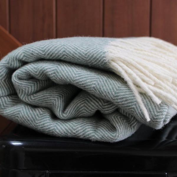 Seagrass Lambs Wool Blanket