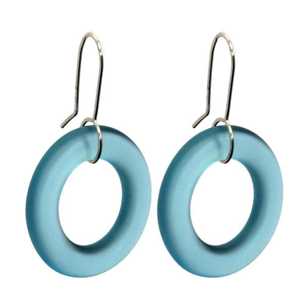 Small hoops - light blue