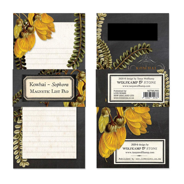 Magnetic notepad - Kowhai