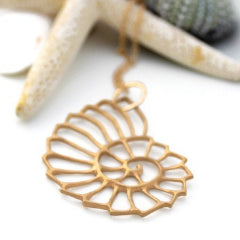 Gold Nautilus necklace