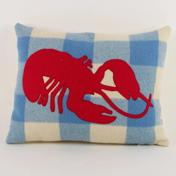 Crayfish cushion - check background