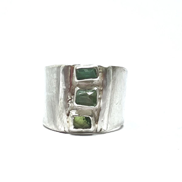 Green Waterfall ring