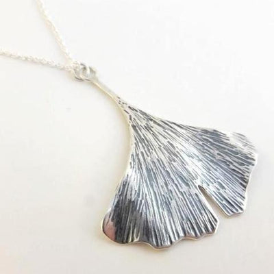 Big Ginkgo Leaf Pendant