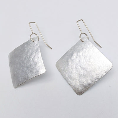 Silver squares earrings