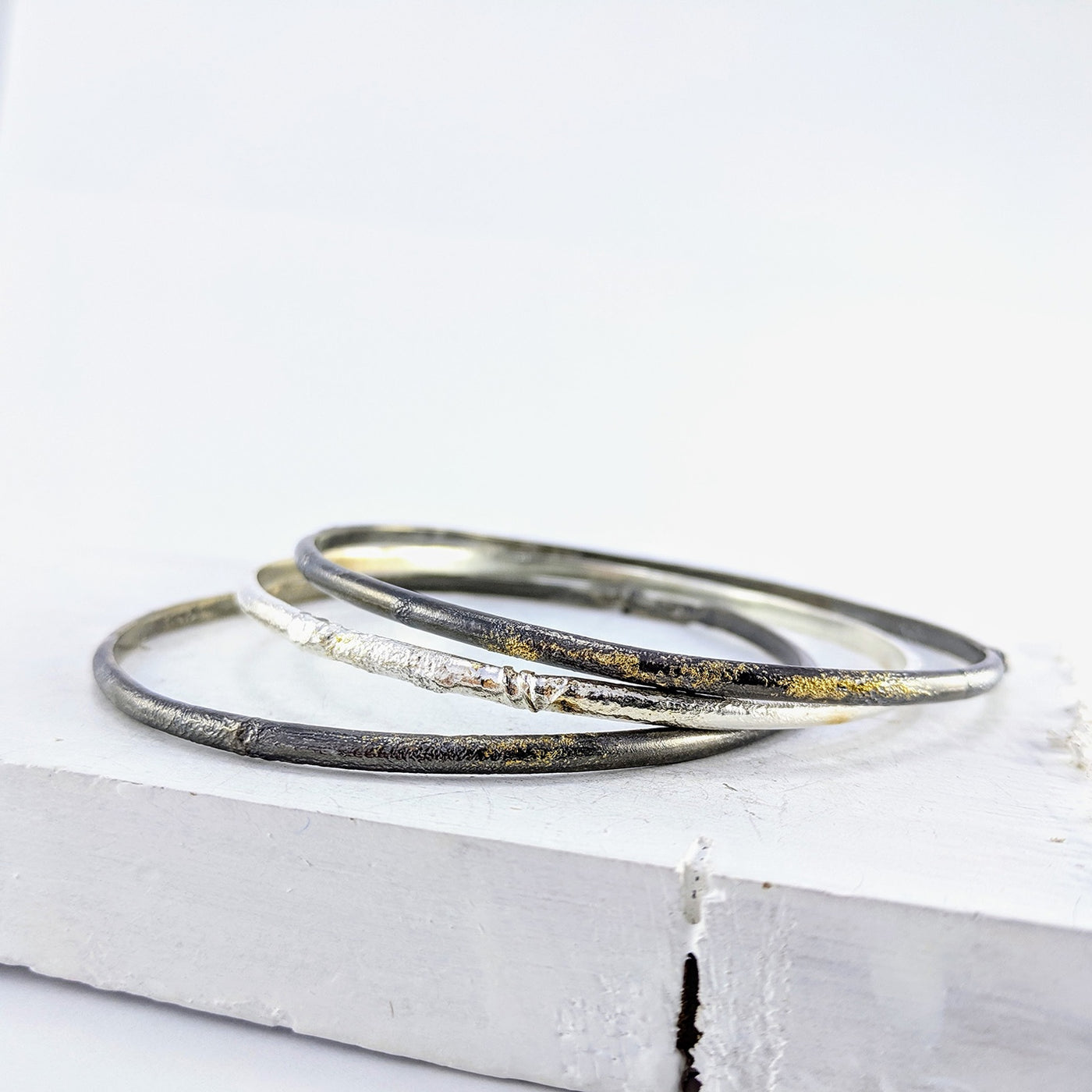 Glow Nook bangle - oxidised