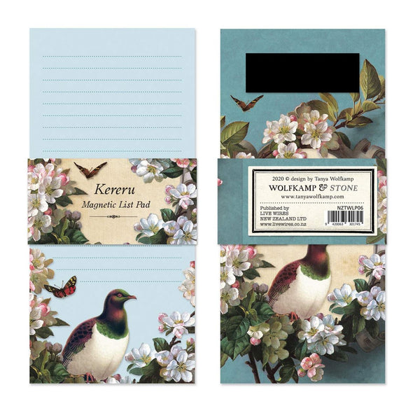 Magnetic notepad - Kereru