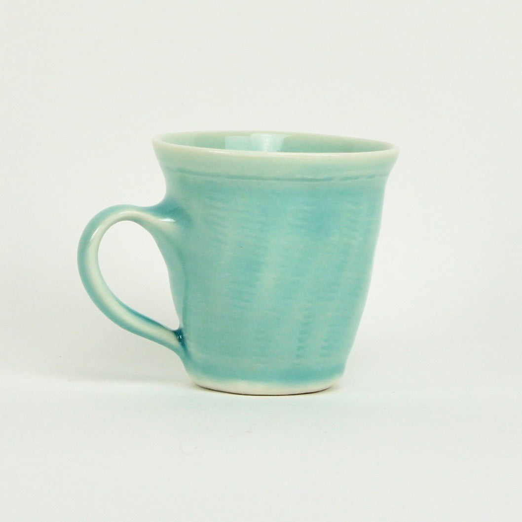 Straight sided mug - blue