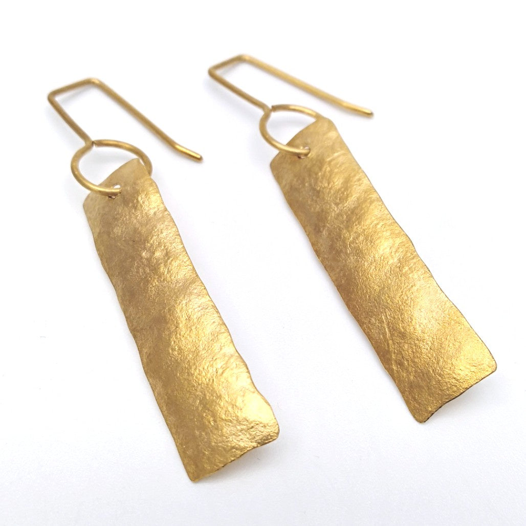 Strip earrings - gold short