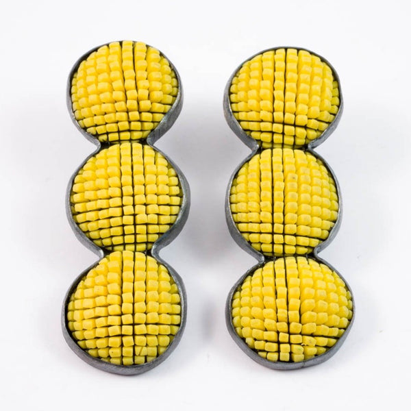 Bubble earrings - yellow