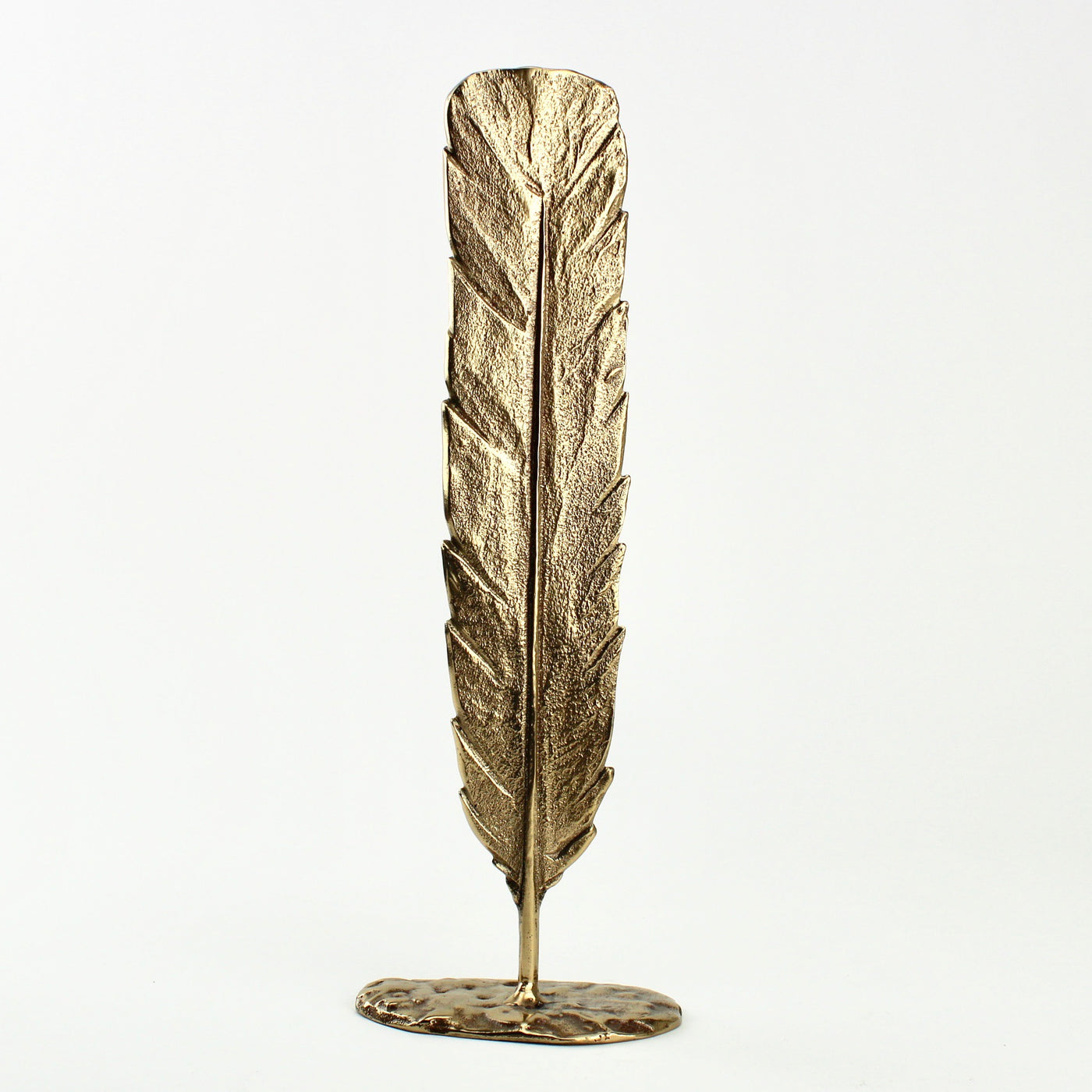 Bronze Huia Feather - polished