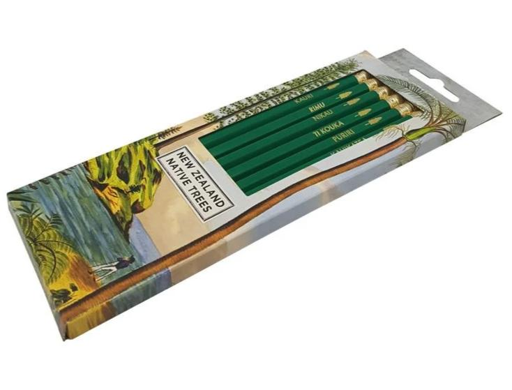 Box of pencils - NZ Native Trees