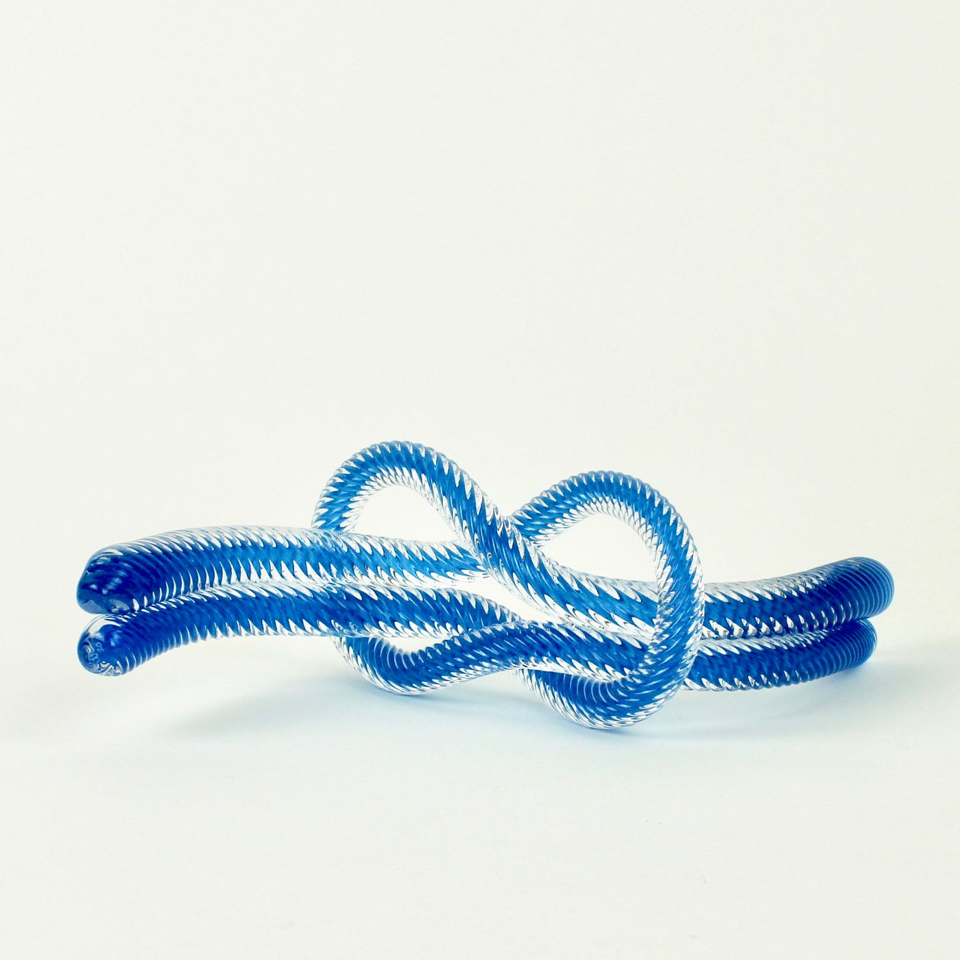 Glass knot - steel blue