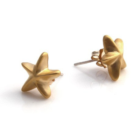 Gold mini starfish studs