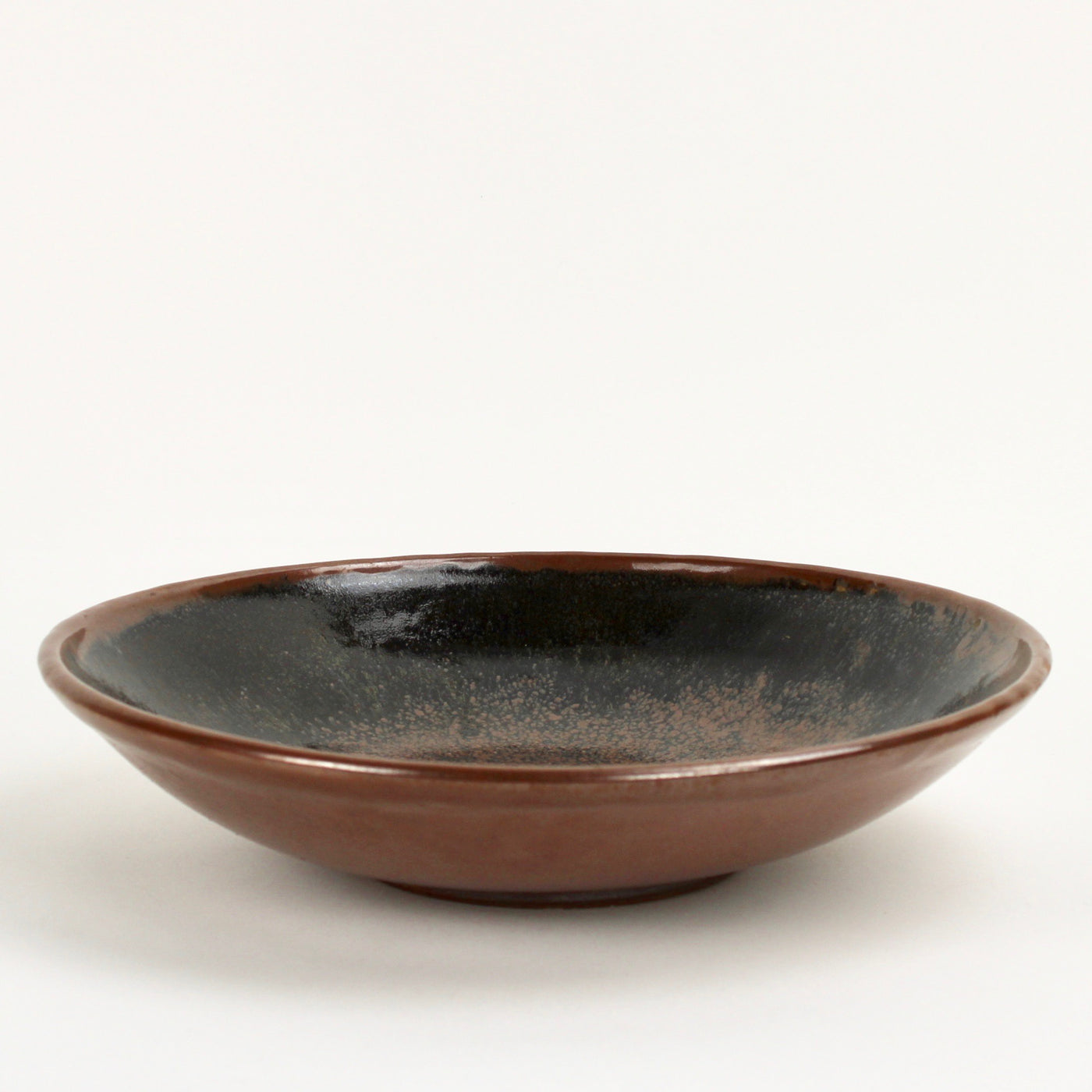 Large flat bowl - black