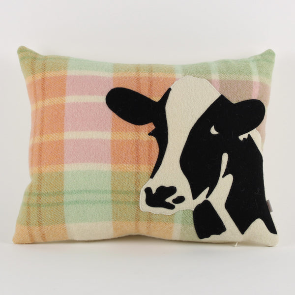 Cow cushion - check background