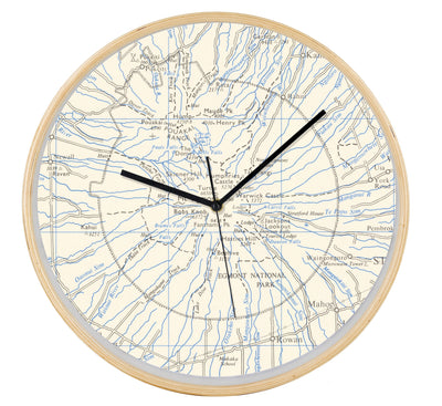 Mt Taranaki map clock