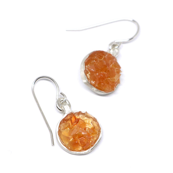 Carnelian jube earrings
