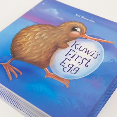 Kuwi's First Egg book + soft toy