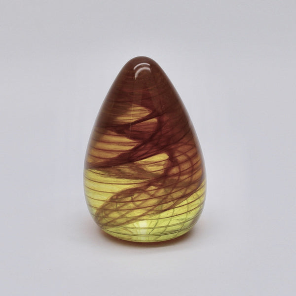 Rainbow yellow orange paperweight