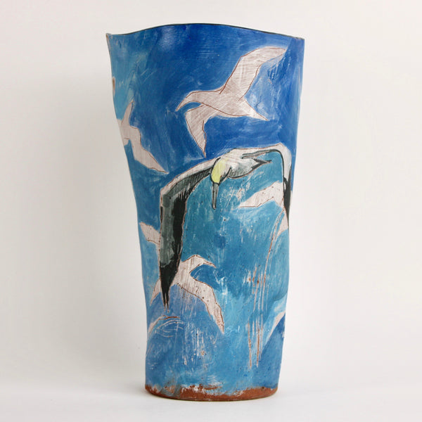 Gannets Flying Vase