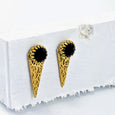 Regal Triangle studs - gold