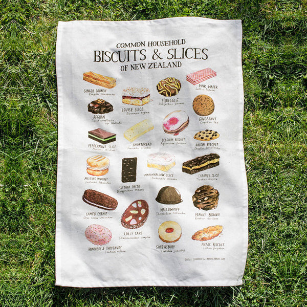 Common Household Biscuits & Slices of NZ - tea towel