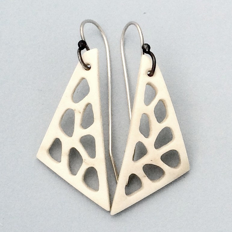 Triangular Antler Earrings