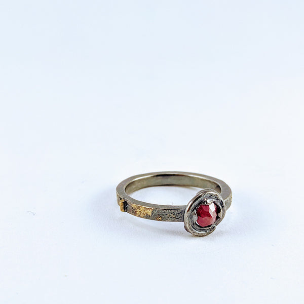 Future Artefact ring with ruby