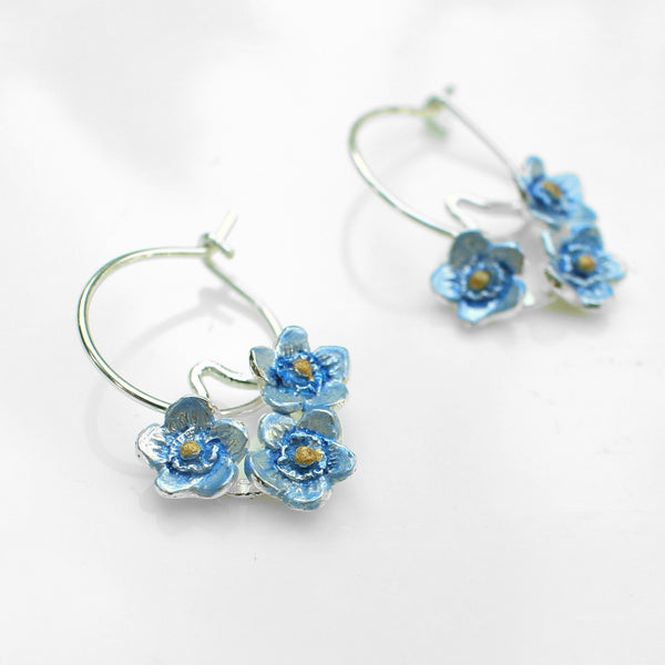 Forget Me Not Trio Hoop Earrings