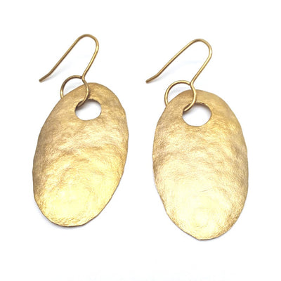 20ct gold plate ovals earrings