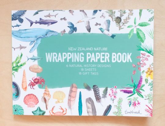 NZ wrapping paper book- natural history