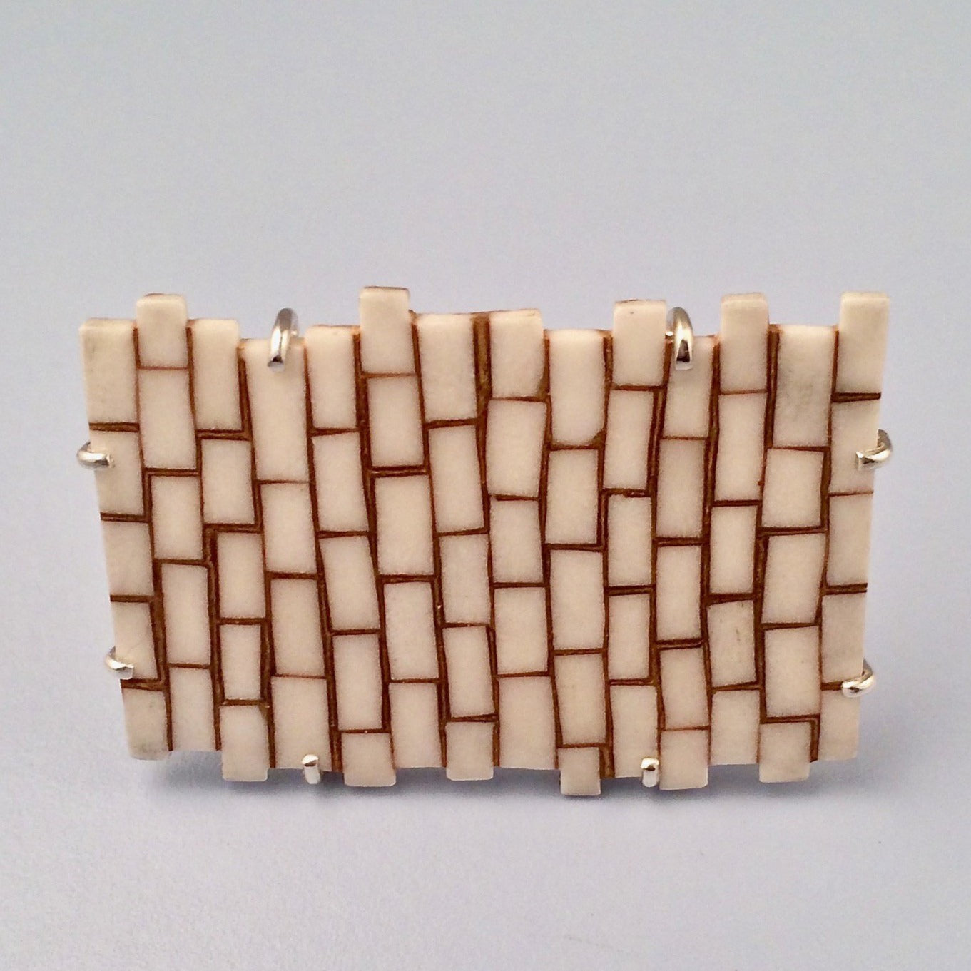 Brick brooch