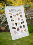 Common Household Biscuits & Slices of New Zealand-tea towel