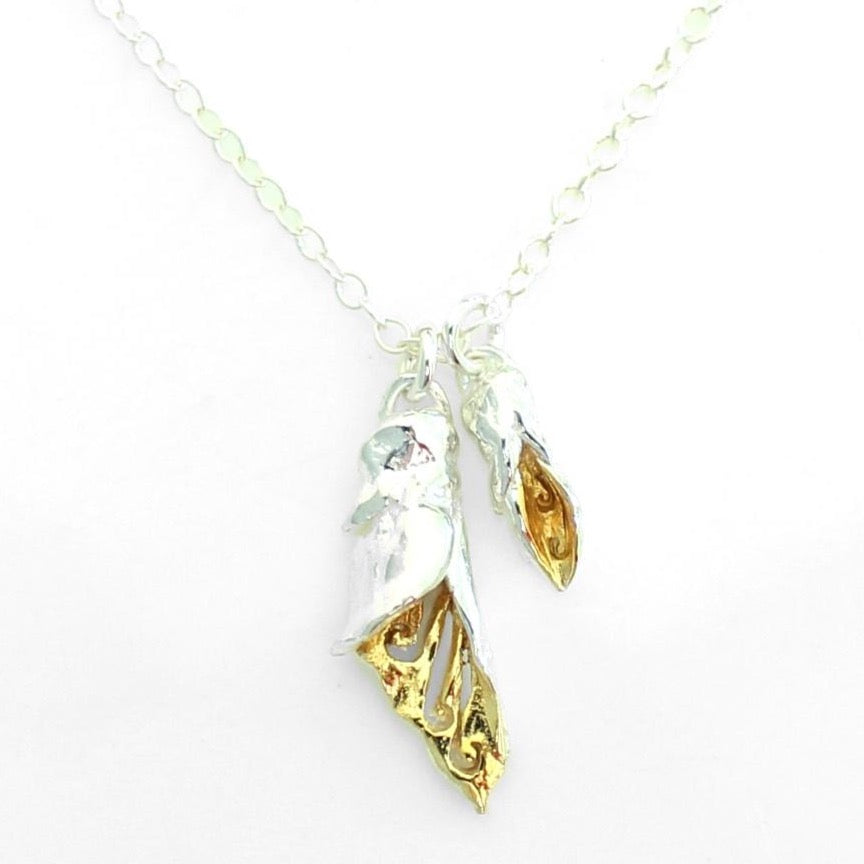 Kowhai Flower + Bud Necklace