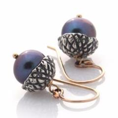 Silver Acorn Earrings