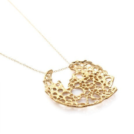 Gold Sea Lace Necklace