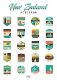 NZ Badges Tea Towel