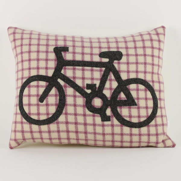 Bicycle cushion - check background