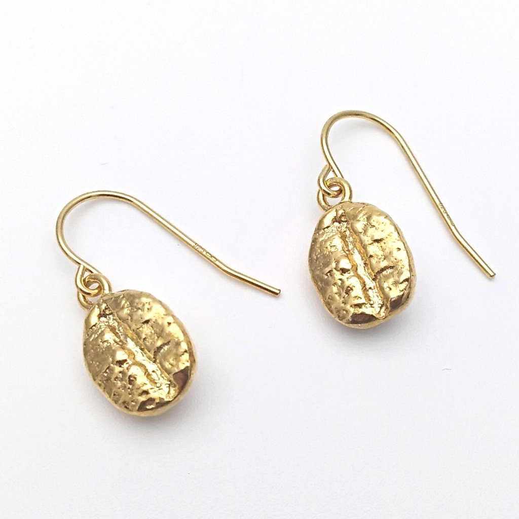 Gold coffee bean short hooks